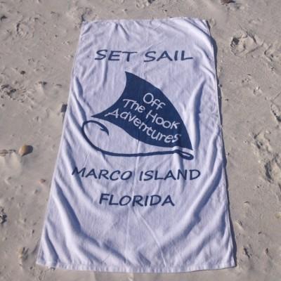 white Marco Island sail shell towel